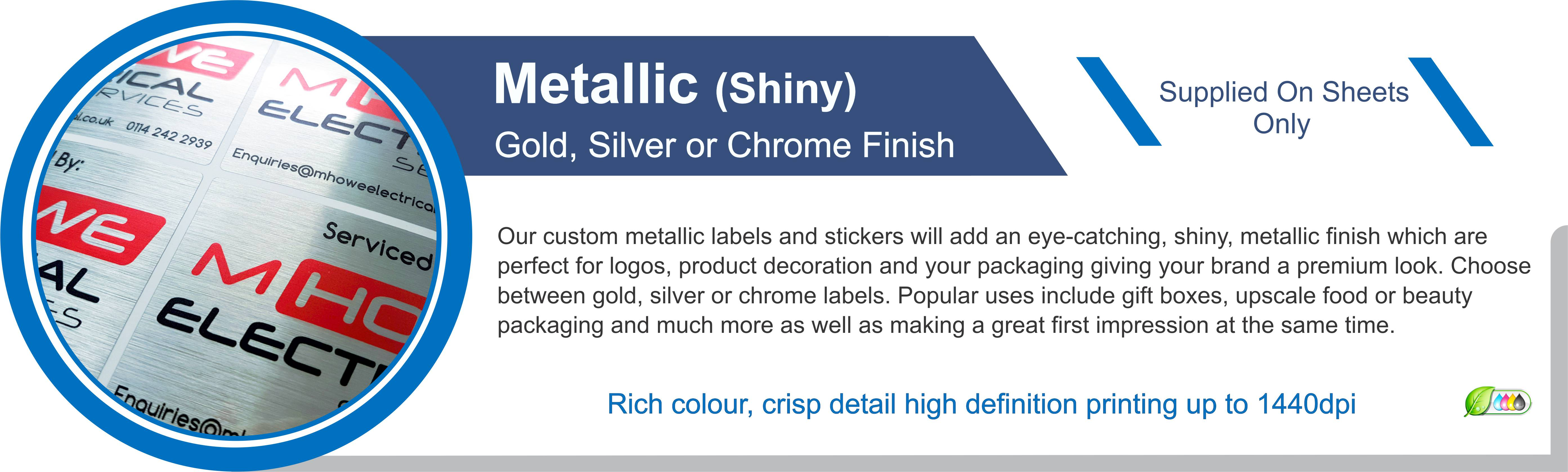 Lizards Custom Labels Products Metallic Labels Stickers