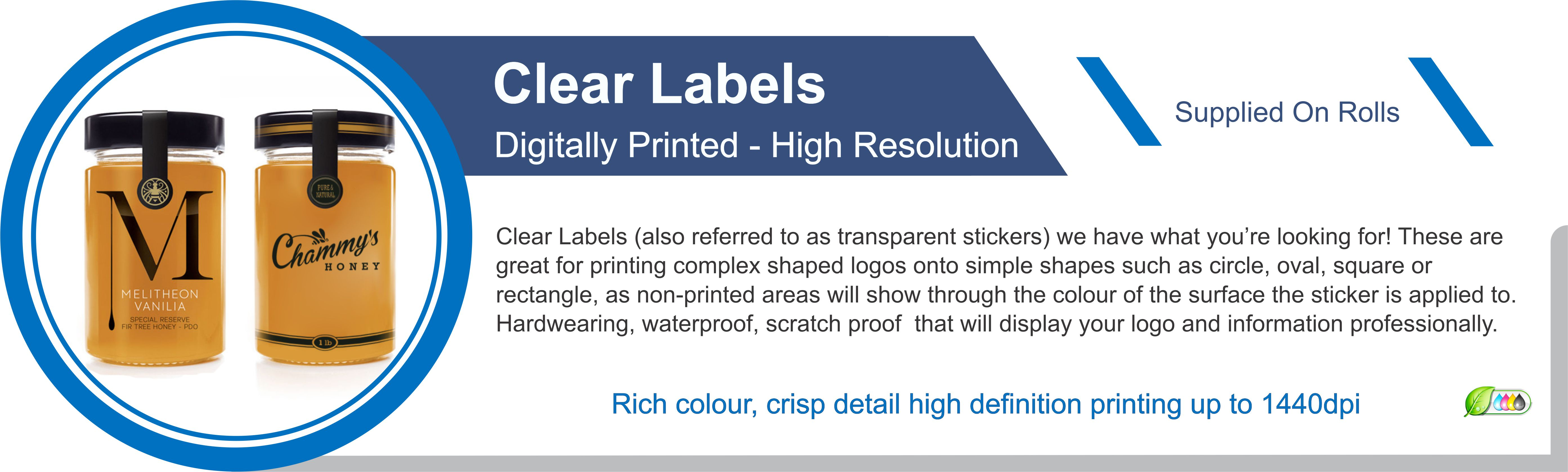 Clear Labels / Stickers